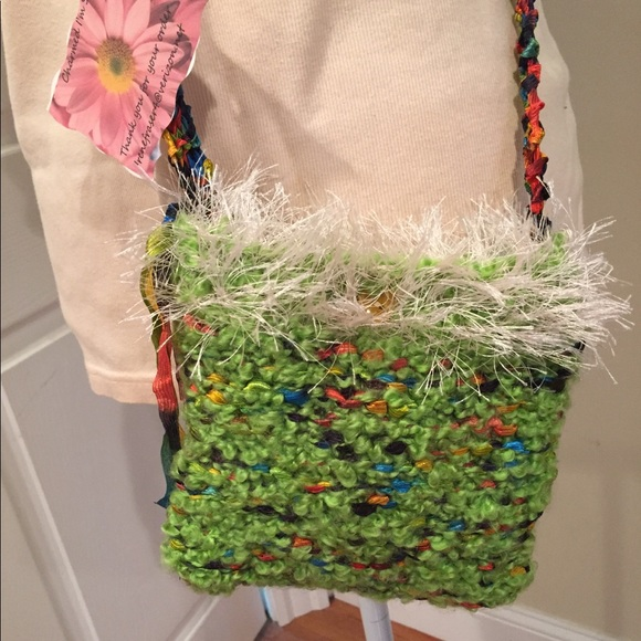 🆕 Boutique boho knitted crossbody